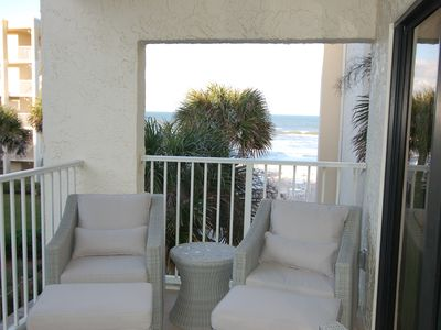 Photo for Beautifully Remodeled Large 1/1 Condo With Great Ocean View On Car Free Beach!
