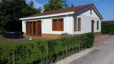 Photo for Beautiful 8 person chalet with enclosed garden.