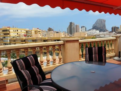 Photo for Chic apartment with a beautiful terrace. 150 m to the beach