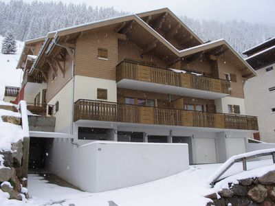 Photo for Modern Luxury Apartment in Châtel, only 150m from Lifts and Resort Centre.