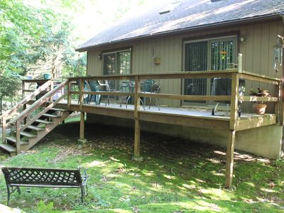 Photo for Cabin in the woods, low traffic street, small pet friendly