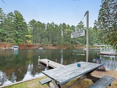 Photo for NEW LISTING! Cozy lake cabin with access to lakefront pier & community firepit!