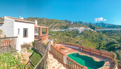 Photo for Ideal Villa to Relax with Mountain, Village and Sea Views