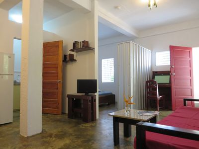 Photo for Maya Beach, 1bed/bath apartment, quiet in lush tropical setting with A/C