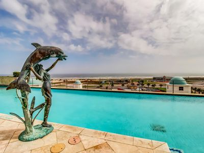 Photo for Waterfront suite with shared infinity pool, hot tub, private deck, & Gulf views