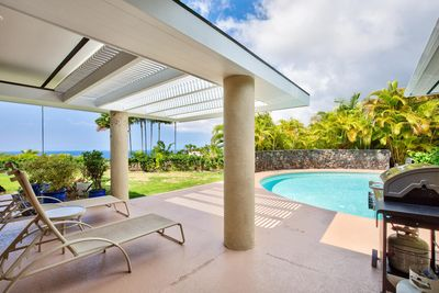 Covered Lanai for Lounging Poolside