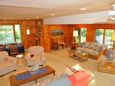 Photo for Spacious, Modern, Clean house + in-law space. 1 min walk to Great Pond beach!