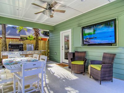 Photo for Hearts of Palms: PRIVATE POOL w/waterfall, Outdoor TV/Kitchen, Free Golf Cart