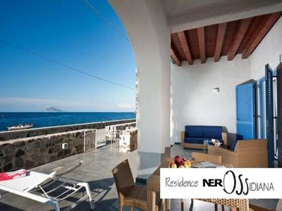 Photo for Seafront apartment with view on Salina, Stromboli and Panarea islands