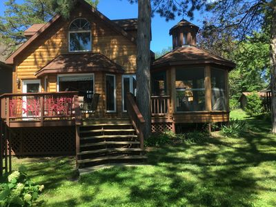Photo for Sunset Bay Hideaway - charming lakefront cabin - romantic getaway / family fun