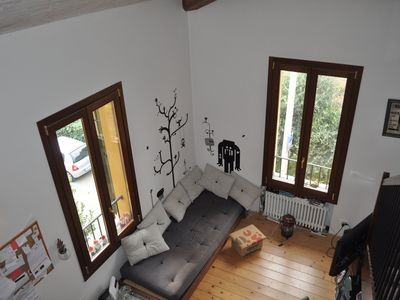 Photo for bright and comfortable attic loft, ideal for short periods