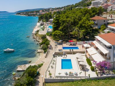 """Photo for EXCLUSIVE LOCATION, BEACH APARTMENT """"IVONA""""! NEW OPEN SWIMMING POOL!"""