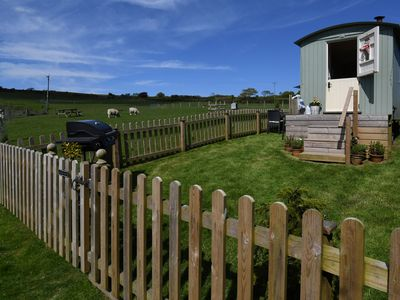 Photo for Secluded, peaceful large Shepherd hut on 14 acre smallholding.