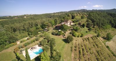 Photo for Private heated and fenced pool, natural AC with double roof, in private estate