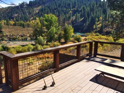 Great fishing in this stretch of river or just relax and watch from the deck.