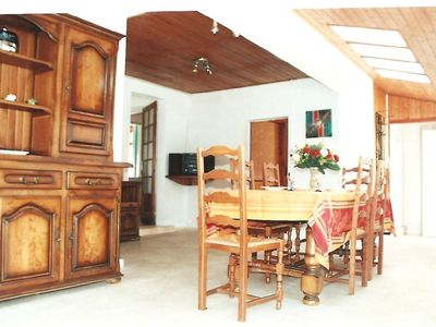 Photo for Very spacious holiday home,175 sqm,6/8 pers.900 mtr to beach,3km Soulac