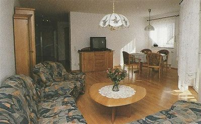 Photo for Holidays on the farm - apartment with terrace and panoramic view right on the edge of the forest