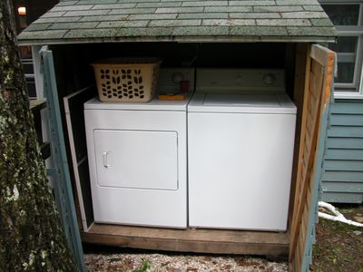 Great Washer And Dryer Accessible From Back Of Cottage