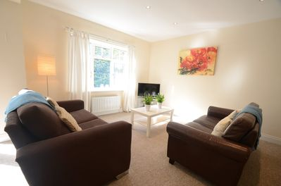 The open plan Living Area in Poppies is very spacious and bright
