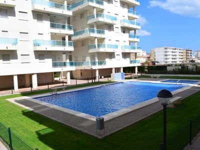 Photo for Modern and comfortable apartment in Piles, on the Costa Blanca, Spain  with communal pool for 4 persons