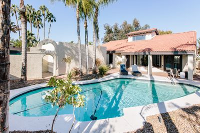Large pool and plenty of area for enjoying your private courtyard.