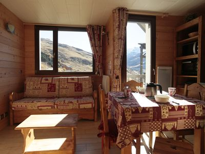 Photo for warm spirit Apt very well located chalet in the 3 Valleys Les Menuires