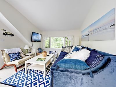 Living Area - Welcome to Kennebunkport! This apartment is professionally managed by TurnKey Vacation Rentals.