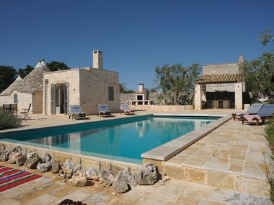 Photo for Spectacular trullo, perfect for romantic & family holidays. Few minutes to town