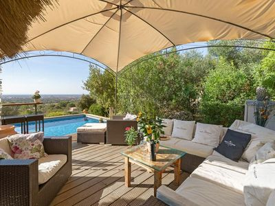 """Photo for Luxury with Generous Terrace, Pool and Panoramic View - Finca de """"Ses Bruxes"""""""
