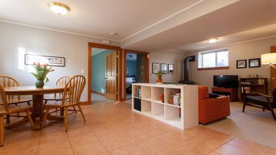 Beautiful, bright, fully-furnished, private basement apartment .