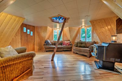 You'll enjoy the uniqueness of this vacation rental's architecture.