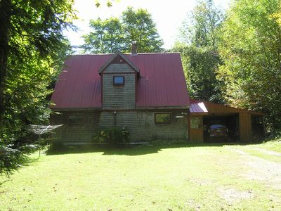 Photo for Rustic timber frame lodge in woods - unavailable rest of 2019 due to repairs