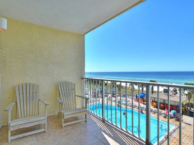 Photo for New Listing! Beautiful gulf views at this charming condo! 2 pools, free WiFi!