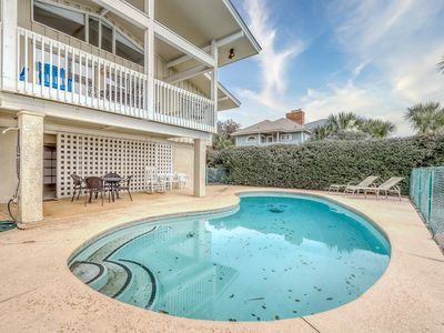 Photo for Oceanfront escape with direct beach access, private pool, and covered porch