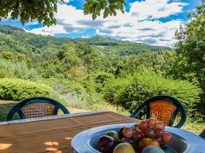 Photo for House with private pool at 2,8 km from Castiglione di Garfagnana. Panoramic view