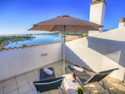Photo for Beautiful penthouse Sun Mary Lou Alcudia on Mallorca. This is right on the beach and is for 4 people.
