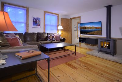 Cute Living Room with Gas Fireplace