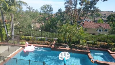 Photo for Ocean/Hill view, pool home with breezes and close distance to the beach!