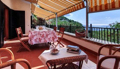 Photo for Casa Montecristo Four-room apartment with large terrace overlooking the sea - Fetovaia