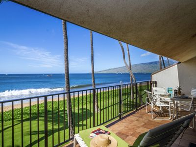 Photo for True Oceanfront!!  Steps from beach