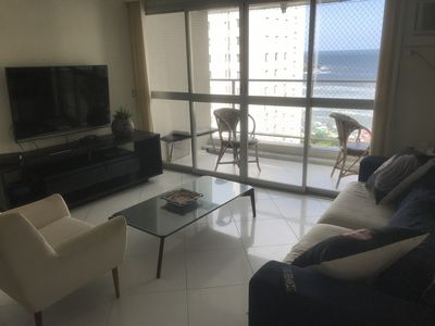 Photo for Ap Guaruja, Pitangueiras 3 bedrooms and 8 bed (REFORMED and VISTA P / O MAR)