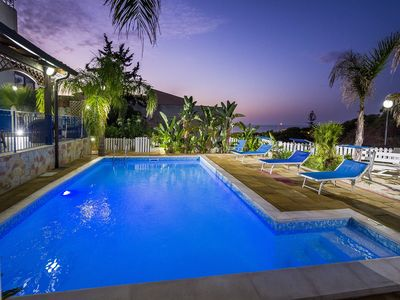 Photo for Beautiful villa with swimming pool 10 beds with sea view ob