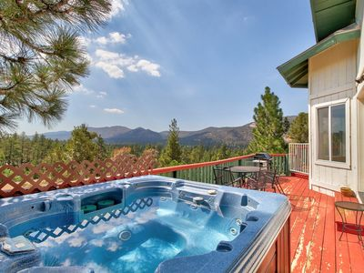 Photo for NEW LISTING! Dog-friendly home w/hot tub, 5 miles to Bear Mountain Ski Resort