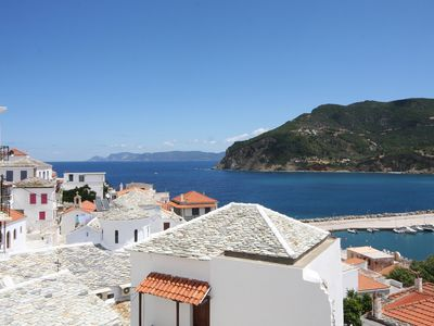 Photo for Spacious and Beautiful Town House Skopelos - Amazing Sea Views