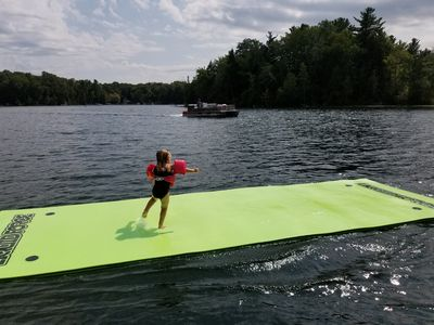 Photo for The Aqua Dock on Harper Lake - Hike, Bike, and Fish The Manistee National Forest
