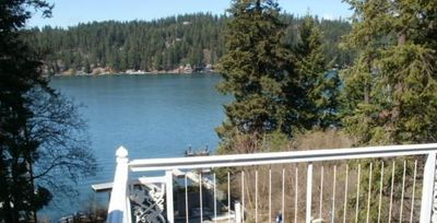 View of Hayden Lake form the upper eating deck