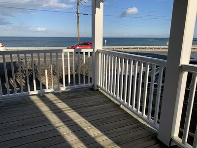 Photo for Ocean Front With Panoramic Views - Walk to the Beach and Town!