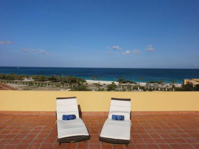 Photo for OCEANIA RESORT - Amber Penthouse Two-Bedroom condo - P512 - BEACHFRONT - EAGLE BEACH