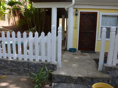 Photo for Beach Front Property with private, fenced yard and dock right in front