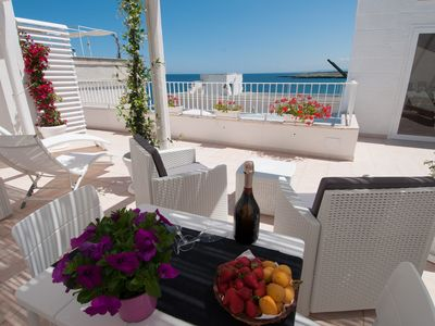 Photo for Afrodite House: Apartment with Sea-View Terrace in Monopoli